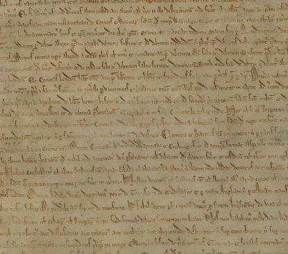 Imagen: Magna Carta 1215 fondo digital British Library